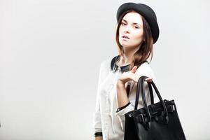 Fashion portrait of stylish young woman