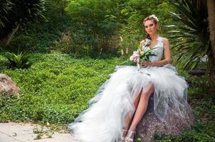 The bride in a garden photo
