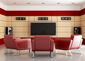 elegant home cinema room photo