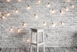Blank white stool photo