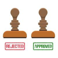 Approved and rejected stamp mark