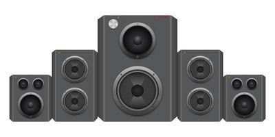 Audio speaker set vector