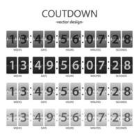 Countdown timer set vector