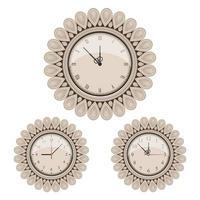Vintage wall clock set vector
