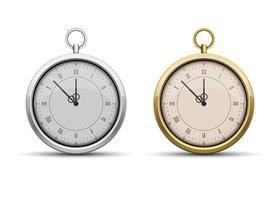 Pocket watch set vector