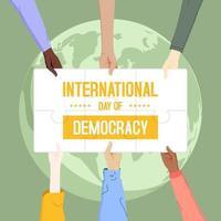 cartel del día internacional de la democracia vector