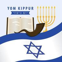 diseño de carteles de yom kipur israel