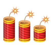 Red firecrackers isolated