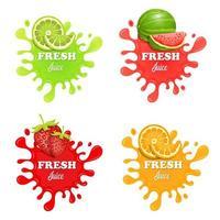 salpicaduras de jugo de fruta vector
