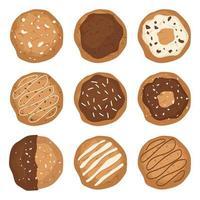 biscoitos isolados no branco vetor