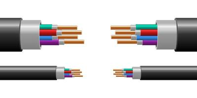 Copper wire isolated  vector