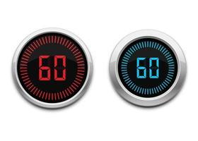 Digital timer set vector