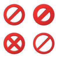 Prohibitory sign set vector
