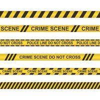 Crime scene do not cross tape set vector