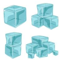Set of ice cubes vector