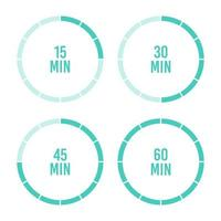 Hour and minute timer set vector