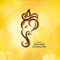 Resumen diseño de acuarela amarilla religiosa ganesh chaturthi vector