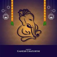 Ganesh Chaturthi religious design vector