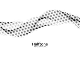 Wave style halftone design vector