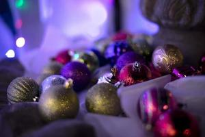 Assorted Christmas ornaments photo