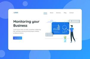Monitoring Business Concept Landing Page
