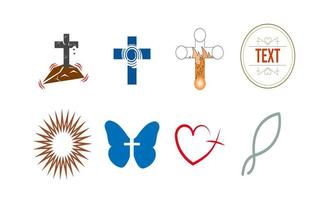 Set of religious icons vector