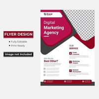 Corporate business flyer with rounded triangle shapes