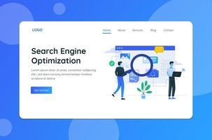 Search Engine Optimization Concept Landing Page