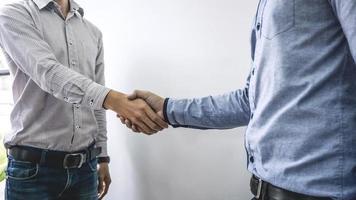 Handshake of two business people  photo