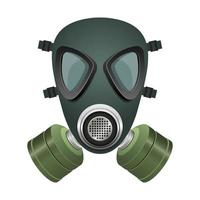 Black and green gas mask