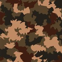 Brown, military camouflage pattern background vector