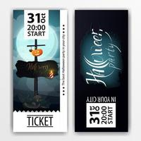 Ticket design for Halloween party