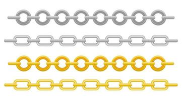 Metallic chain isolated