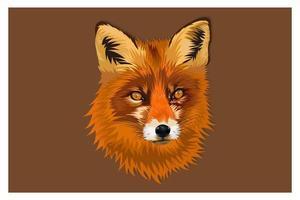 Cartoon fox head drawing