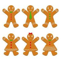 Gingerbread isolated on white vector