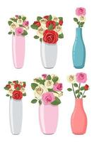 Vase with flower vector