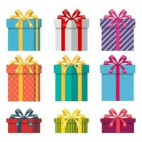 Present box isolated  vector