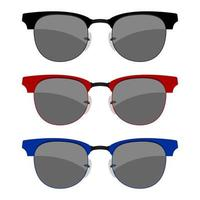 Sunglasses set isolated vector