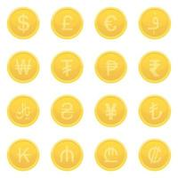 Currencies isolated on white