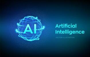 concepto de fondo de inteligencia artificial vector