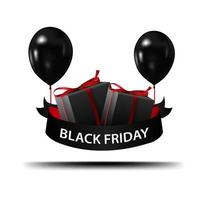 Black Friday sign with shadow  vector