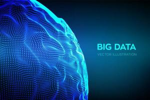 Abstract big data science background  vector