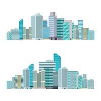 Skyscraper city buildings