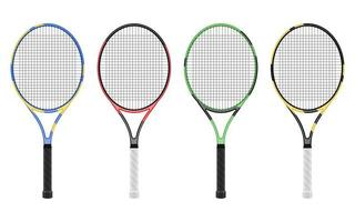Tennis racket isolated  vector