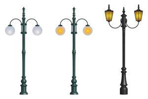 Vintage street lamp  vector