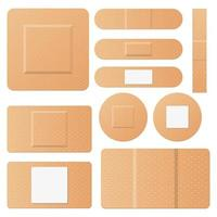 Set of medical patches vector