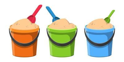 Bucket with sand  vector