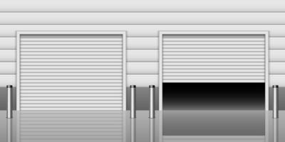 entrada de garaje realista vector