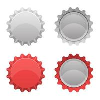 Bottle cap isolated  vector