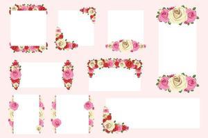Elegant floral frame templates vector